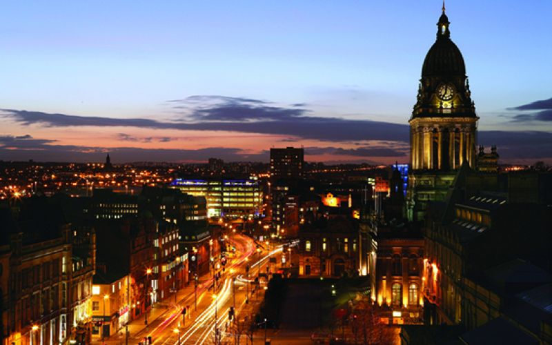 Studere i England - Leeds at Night
