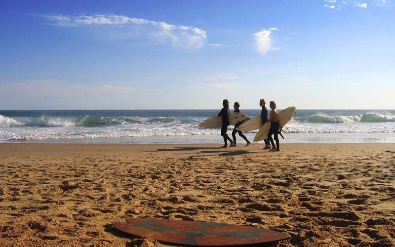 Studere i Wales - Swansea - studenter surfer på stranda
