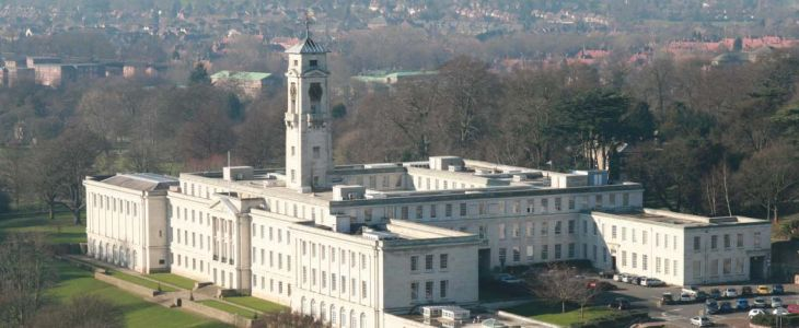 Studere ved University of Nottingham i England